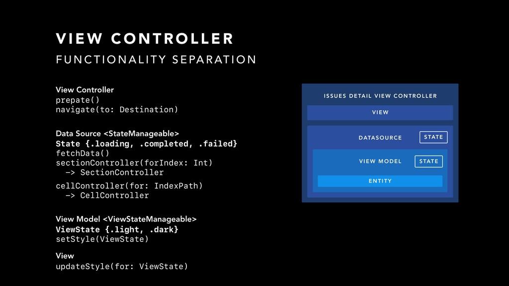 View Controller prepate() navigate(to: Destinat...