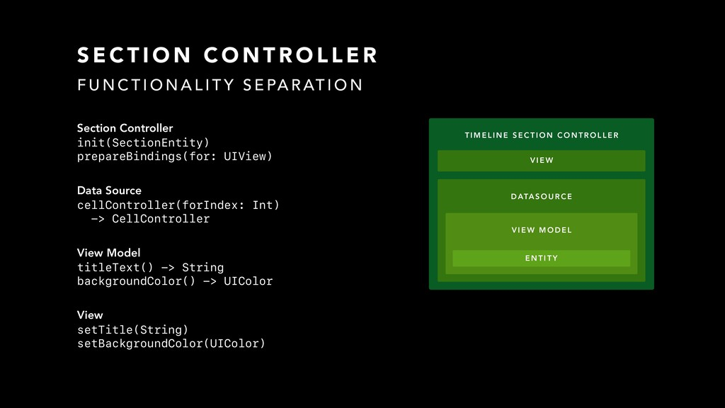 Section Controller init(SectionEntity) prepareB...