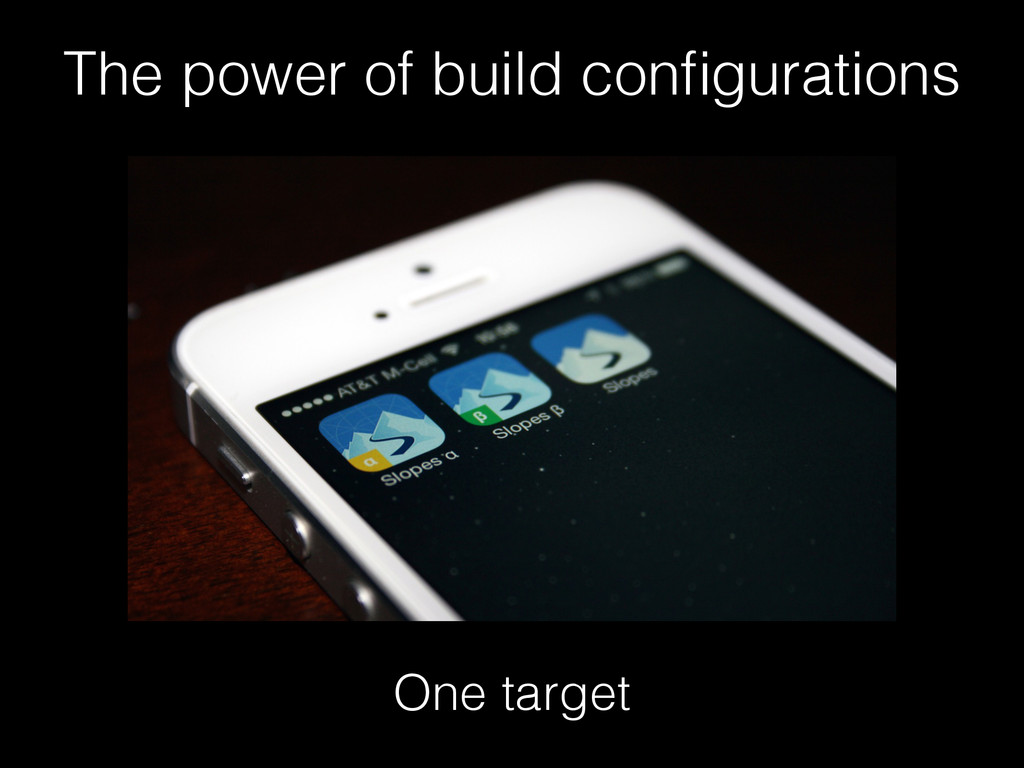 One target The power of build configurations