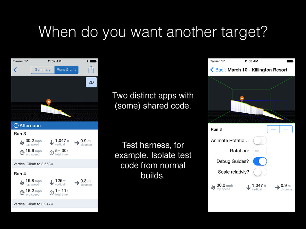 When do you want another target? Two distinct a...