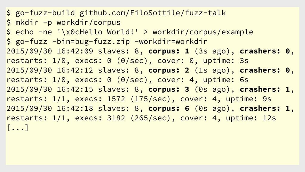 $ go-fuzz-build github.com/FiloSottile/fuzz-tal...