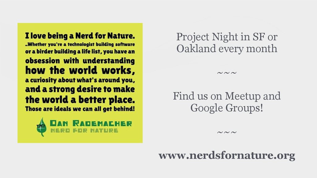 Project Night in SF or Oakland every month ! ~~...