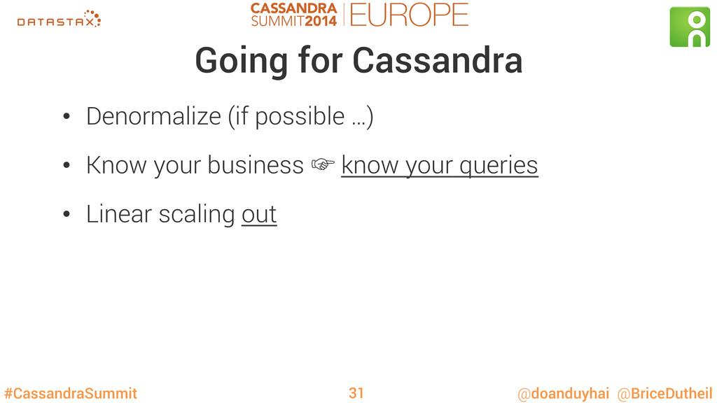 #CassandraSummit @doanduyhai @BriceDutheil Goin...