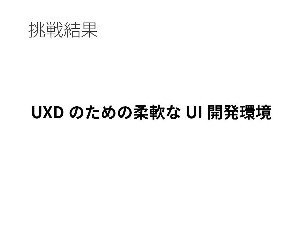 UXD のための柔軟な UI 開発環境 挑戦結果