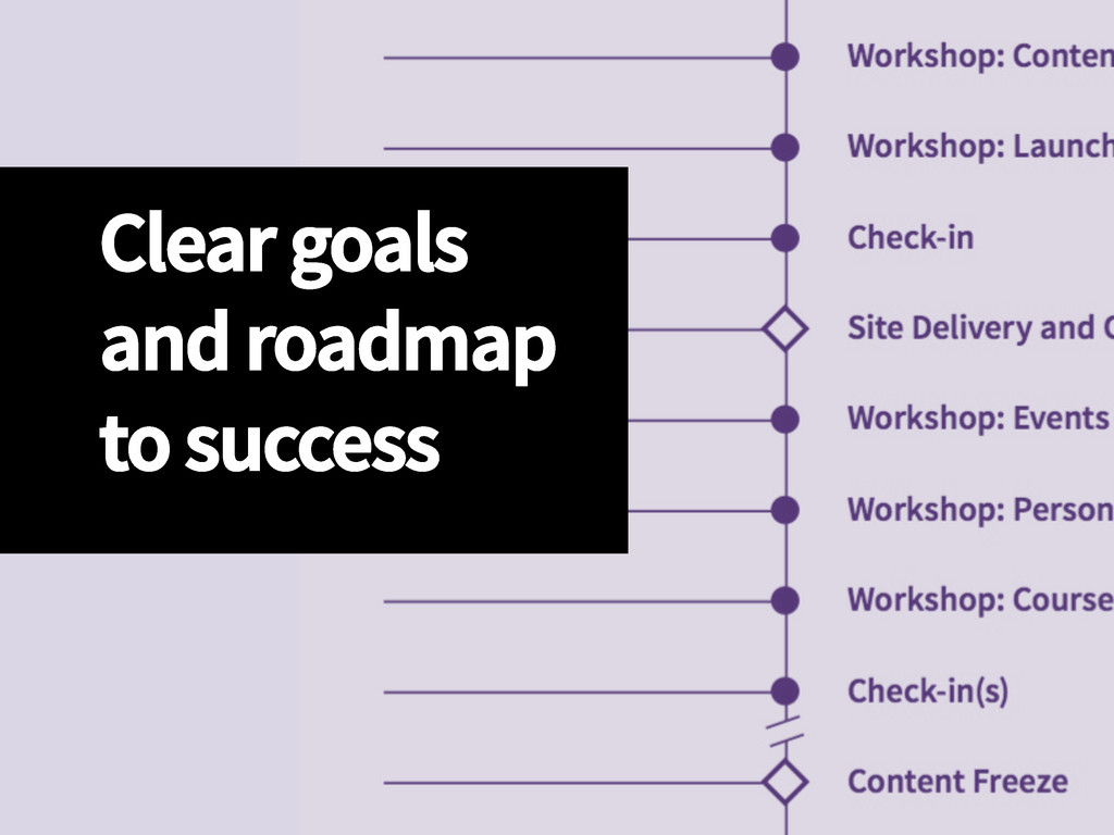 Clear goals  and roadmap  to success
