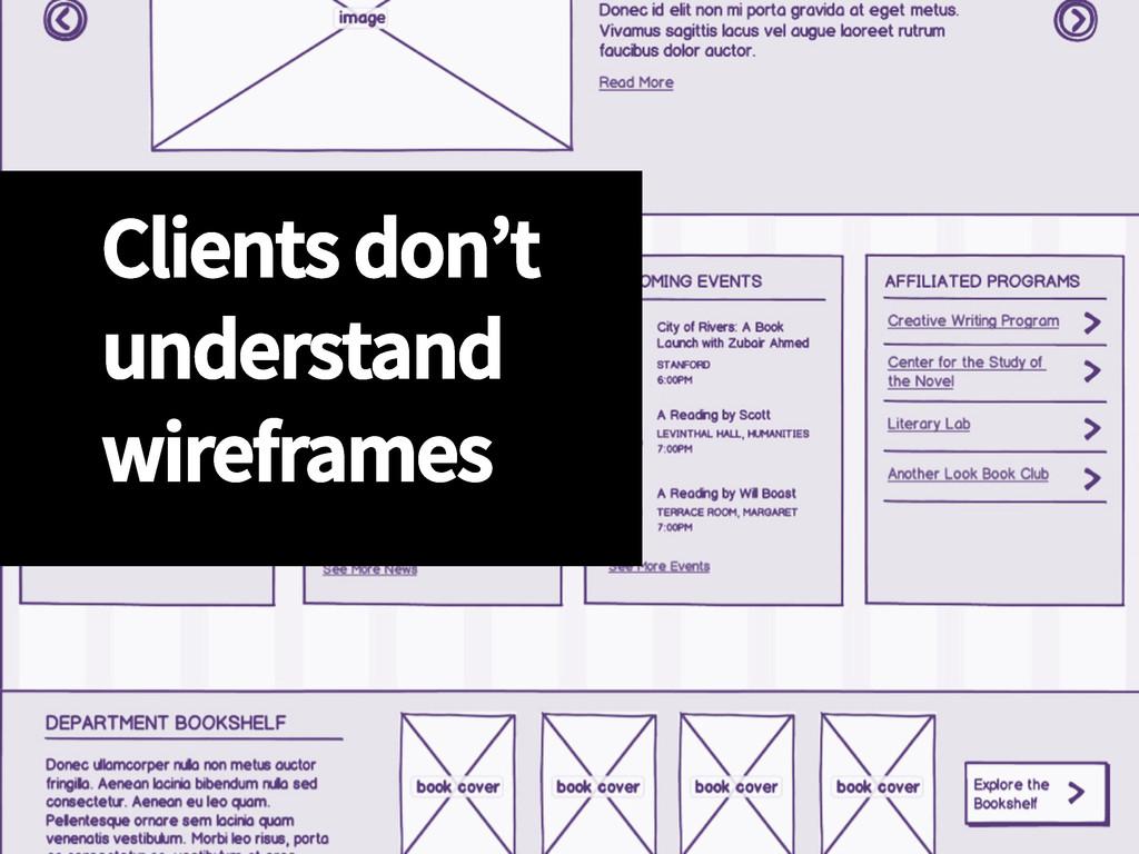 Clients don't understand wireframes