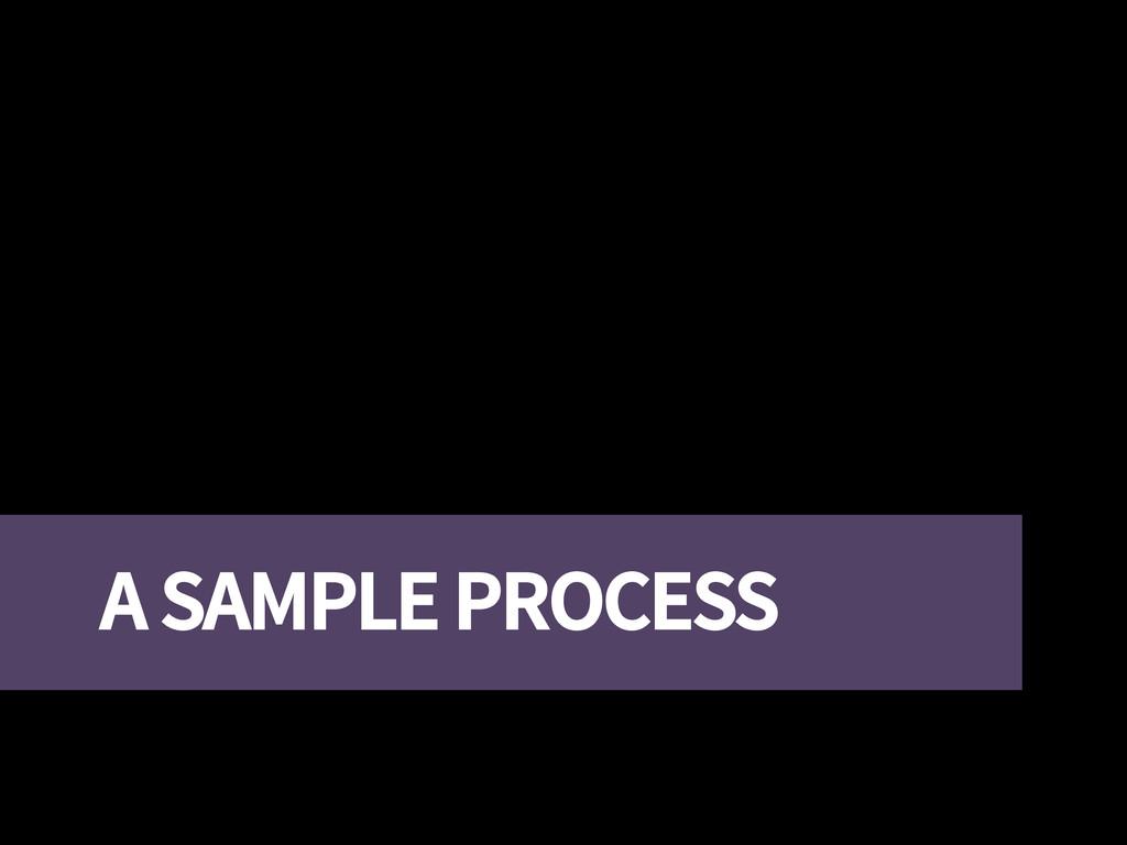 A SAMPLE PROCESS