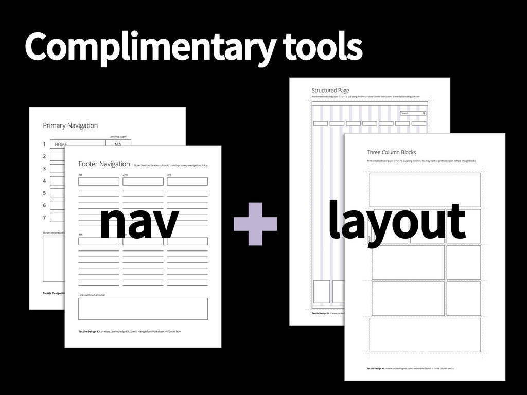Complimentary tools nav layout