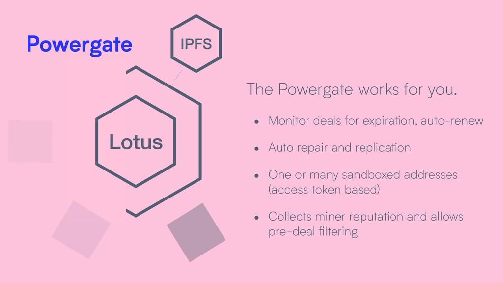 Lotus IPFS Powergate • Monitor deals for expira...