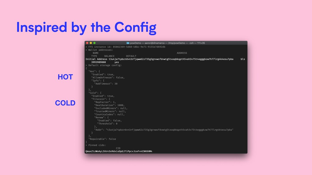 Inspired by the Config HOT COLD