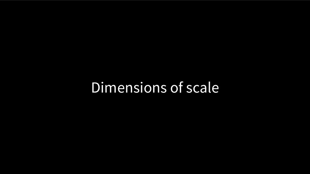 Dimensions of scale
