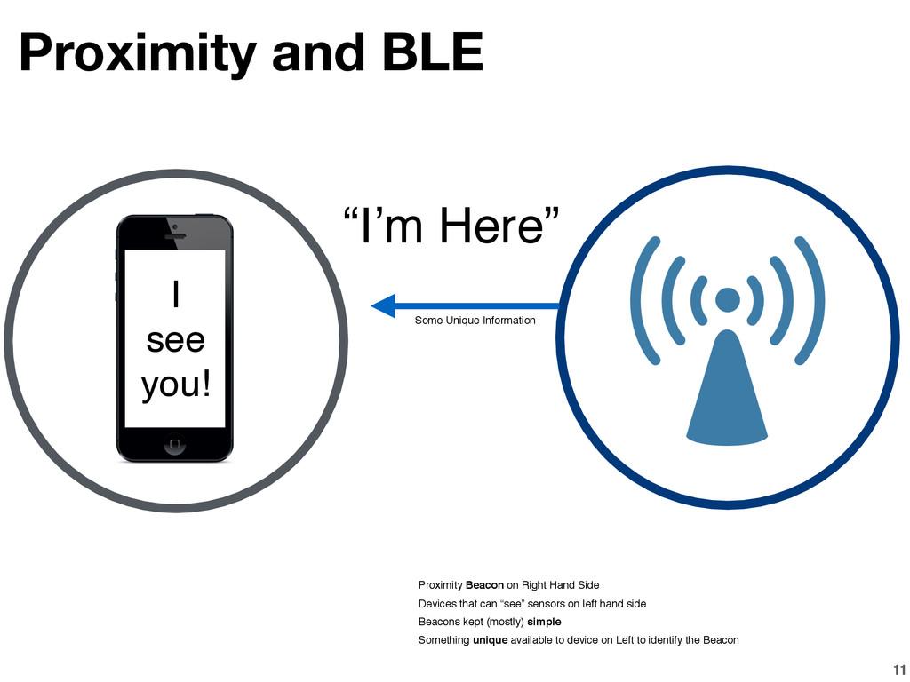 11 Proximity and BLE Proximity Beacon on Right ...