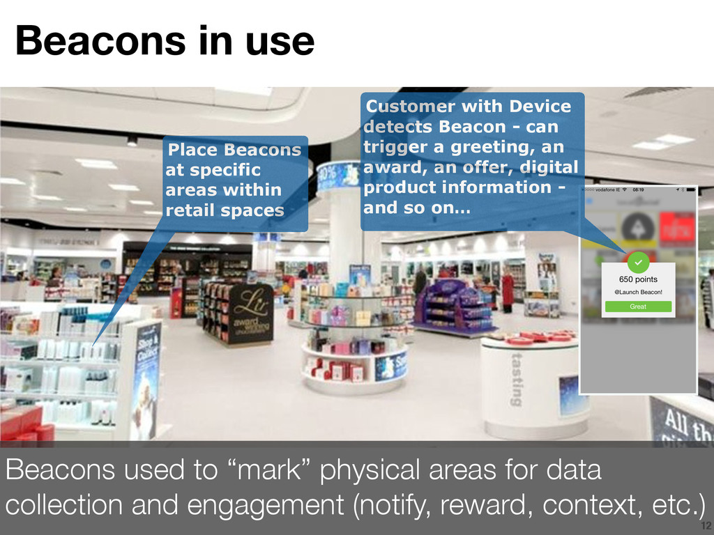 12 Place Beacons at specific areas within retai...