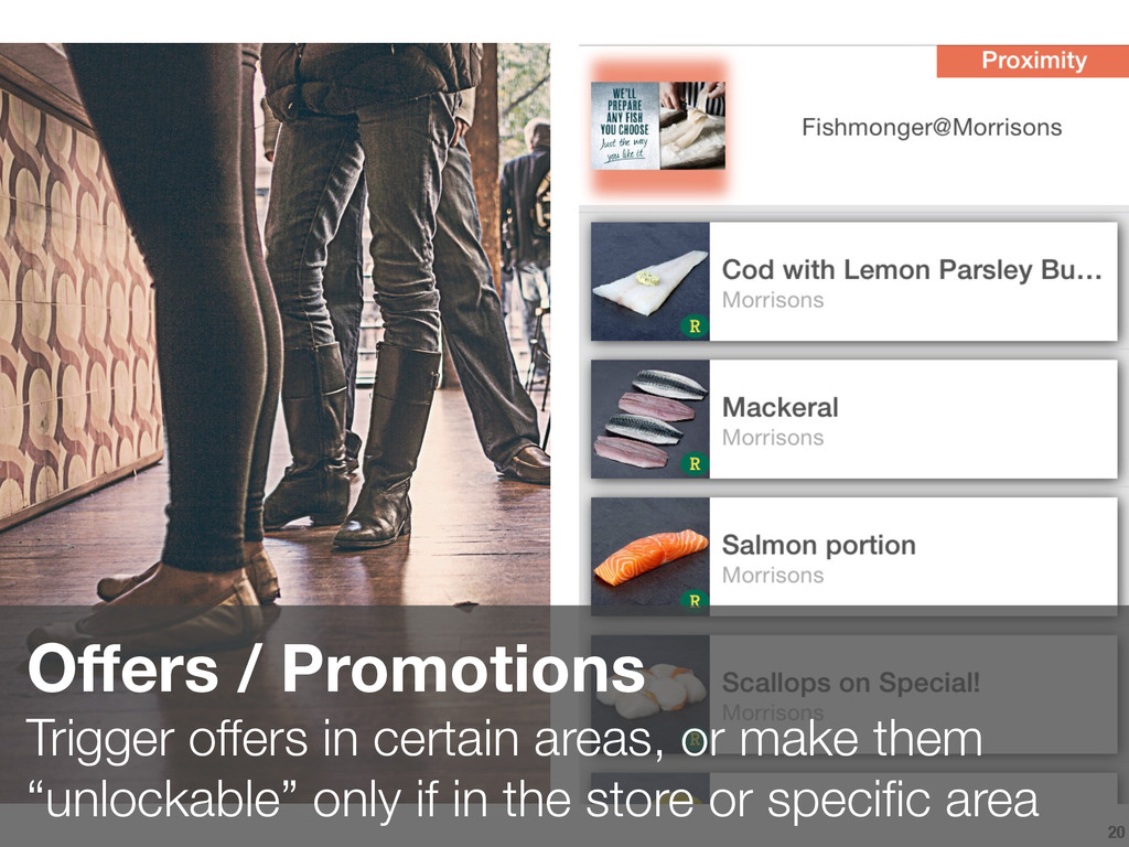 20 Offers / Promotions Trigger offers in certai...