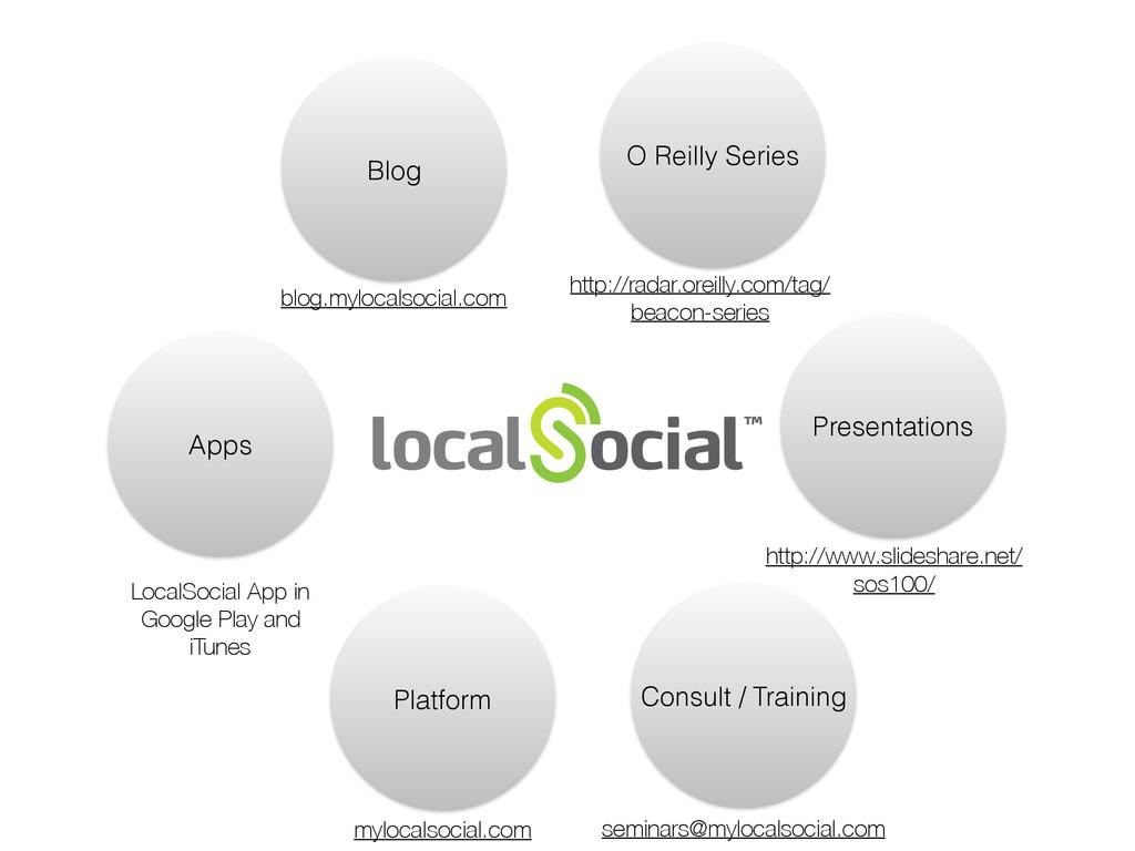 Blog Apps Platform O Reilly Series Presentation...