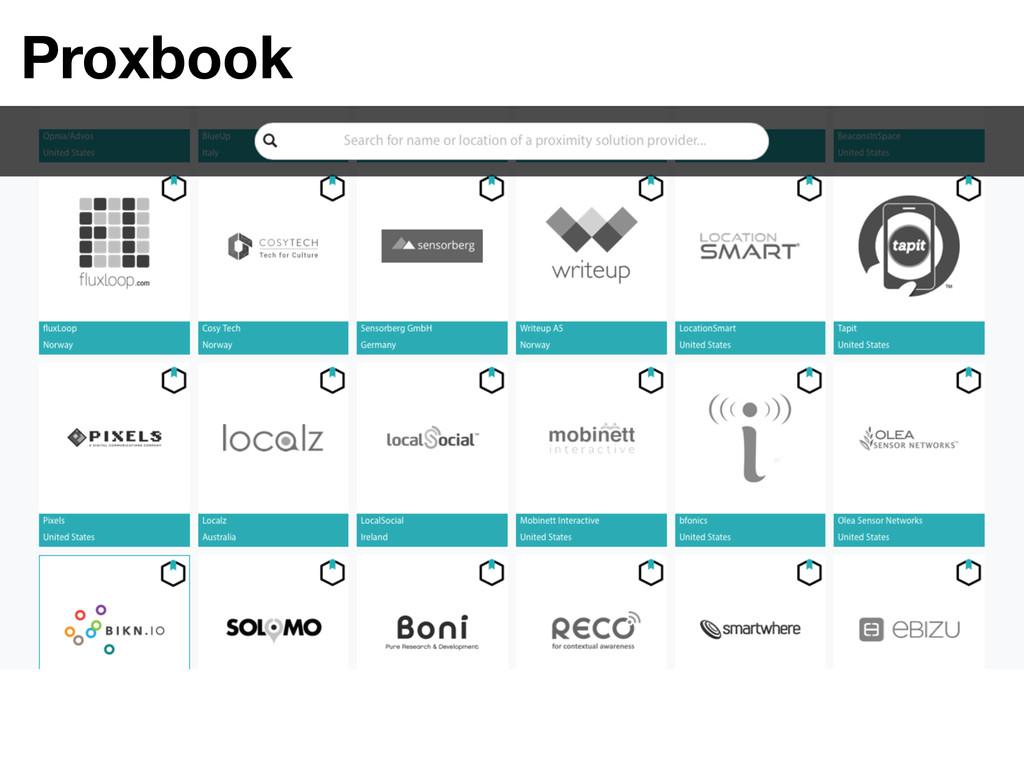 Proxbook
