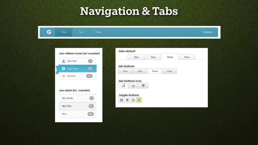 Navigation & Tabs