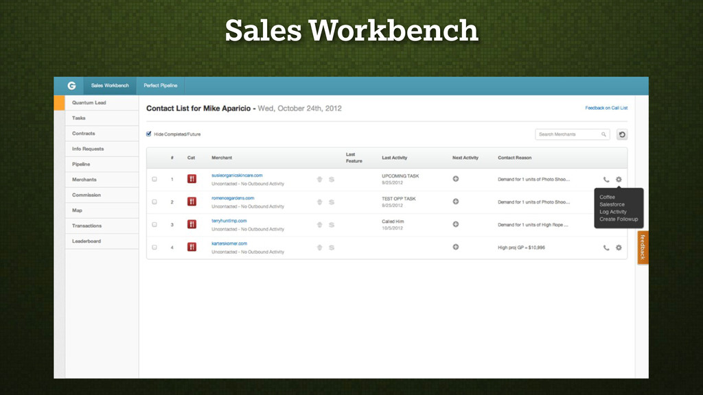 Sales Workbench