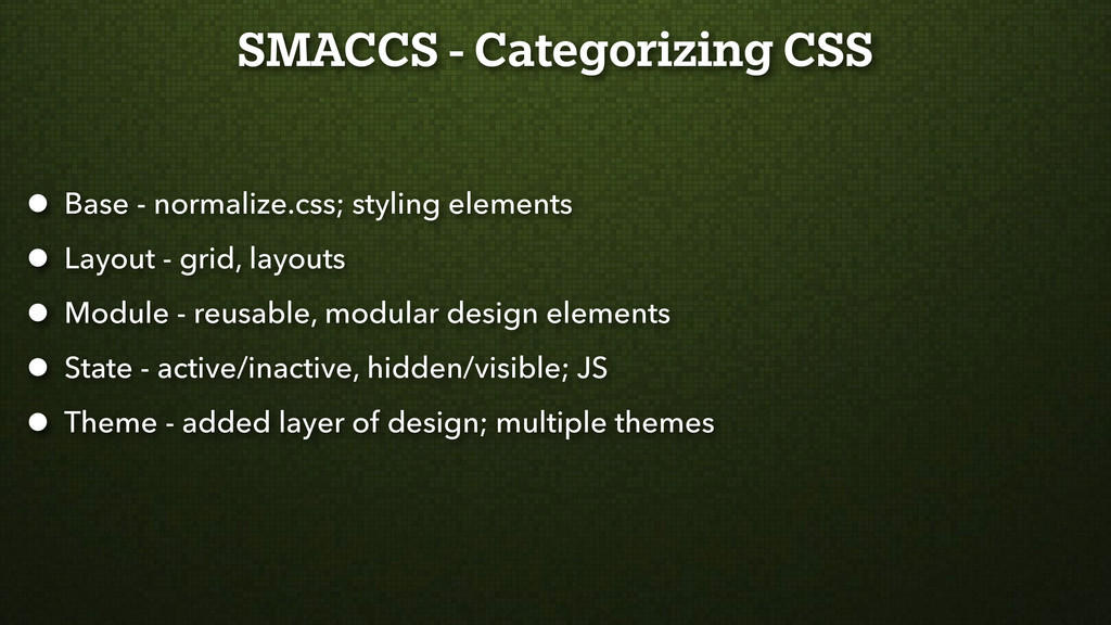 SMACCS - Categorizing CSS • Base - normalize.cs...