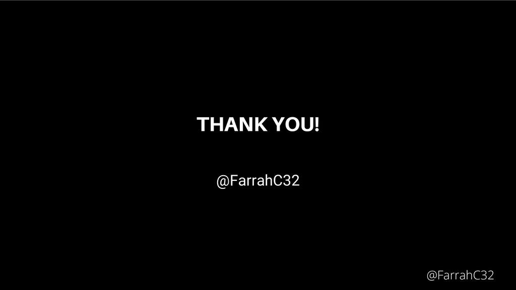 THANK YOU! @FarrahC32 @FarrahC32