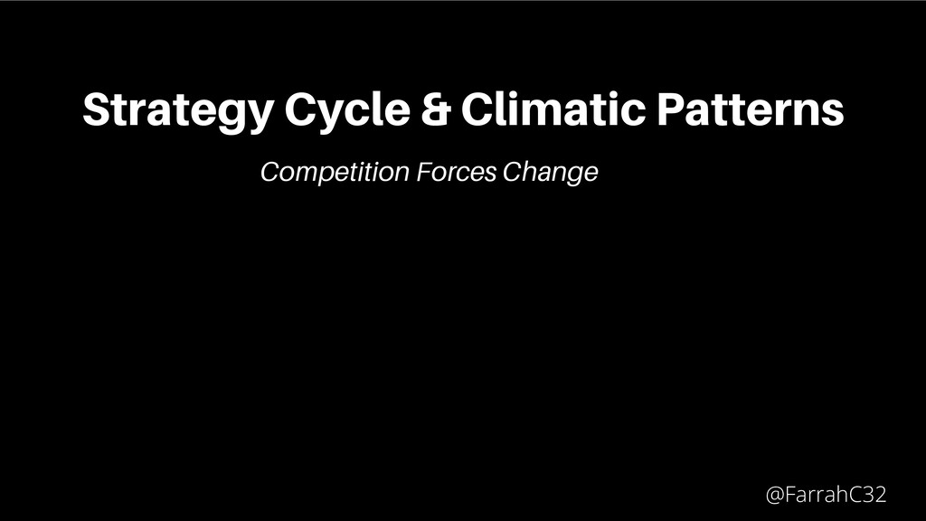 Strategy Cycle & Climatic Patterns @FarrahC32 C...