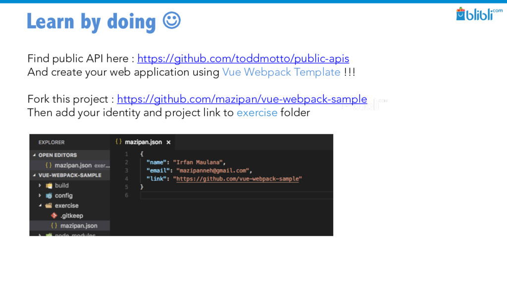 Learn by doing J Find public API here : https:/...