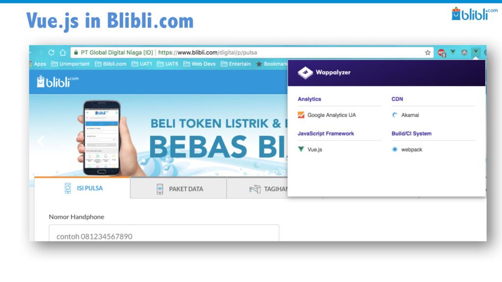 Vue.js in Blibli.com