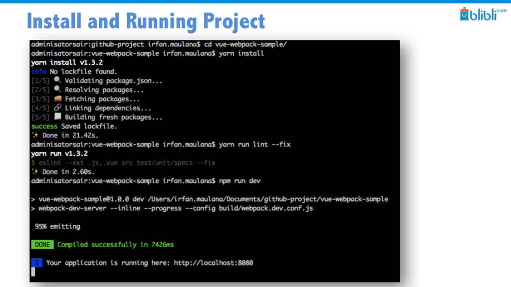 Install and Running Project