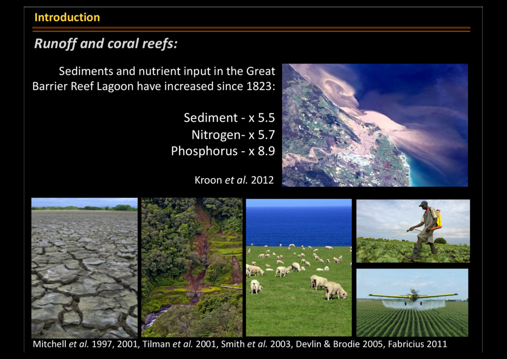 Runoff and coral reefs: Introduction Sediments ...