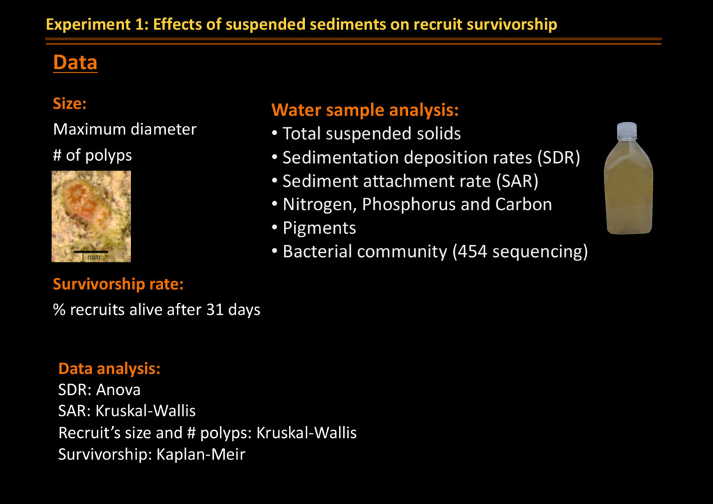 Water sample analysis: • Total suspended solids...