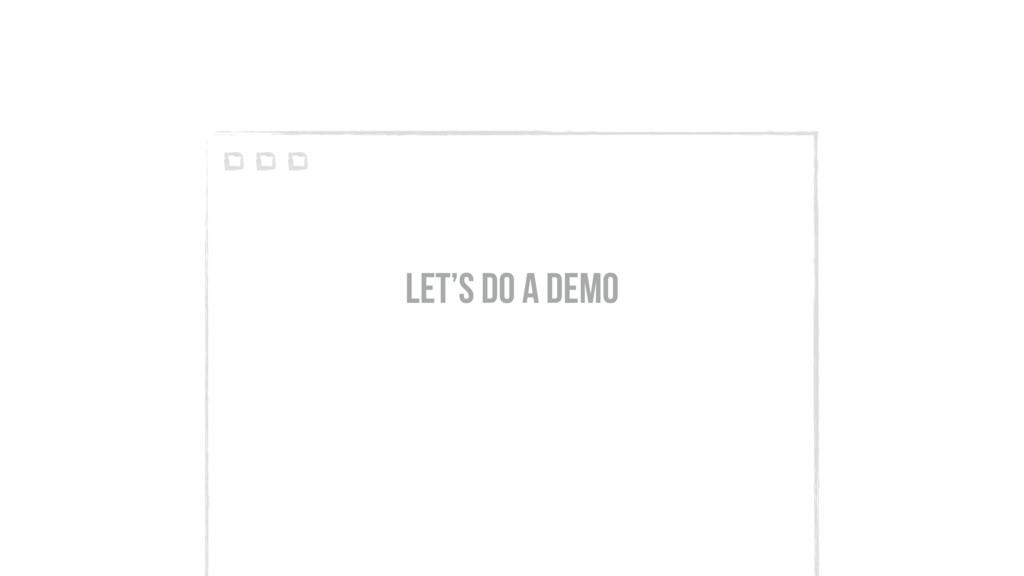 let's do a demo