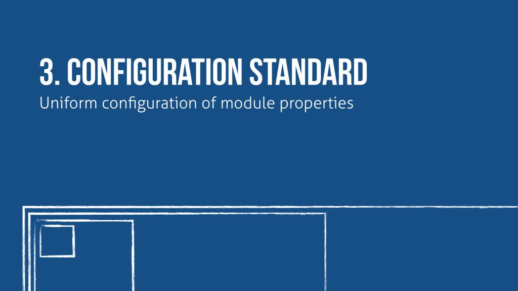 3. configuration standard Uniform configuration ...