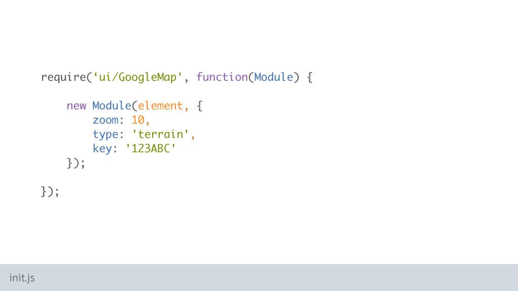 require('ui/GoogleMap', function(Module) { new ...