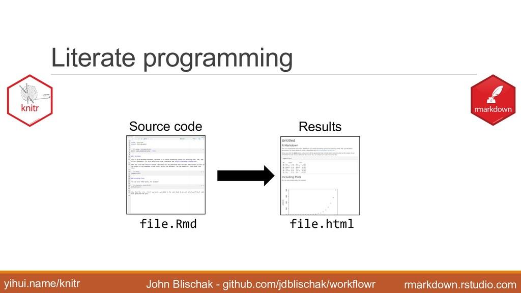 Literate programming John Blischak - github...