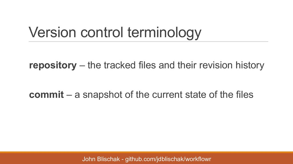 Version control terminology repository – the ...