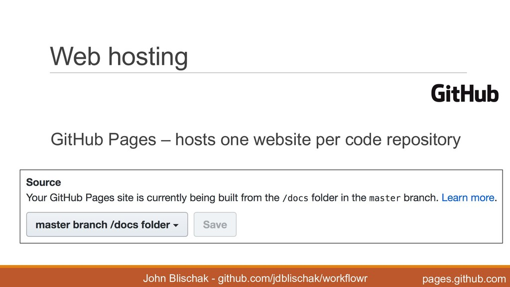 Web hosting GitHub Pages – hosts one websi...