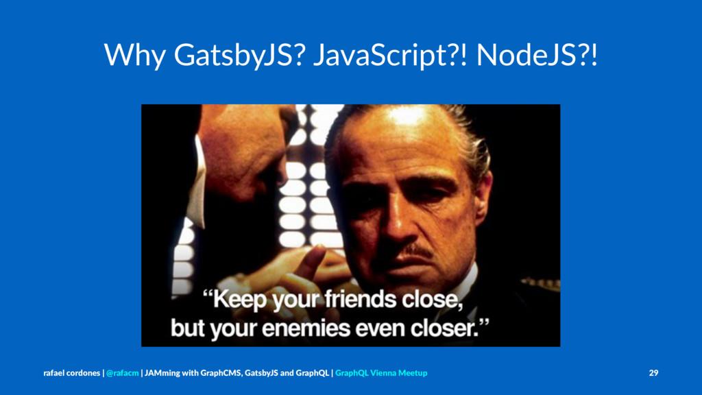 Why GatsbyJS? JavaScript?! NodeJS?! rafael cord...