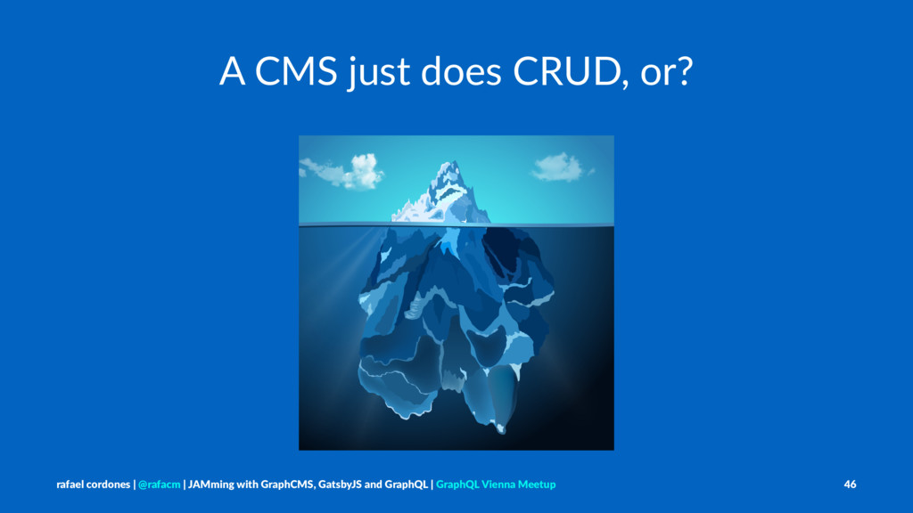 A CMS just does CRUD, or? rafael cordones | @ra...