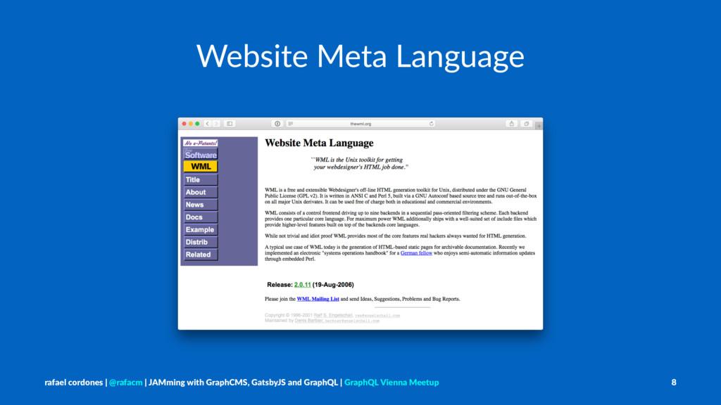Website Meta Language rafael cordones   @rafacm...
