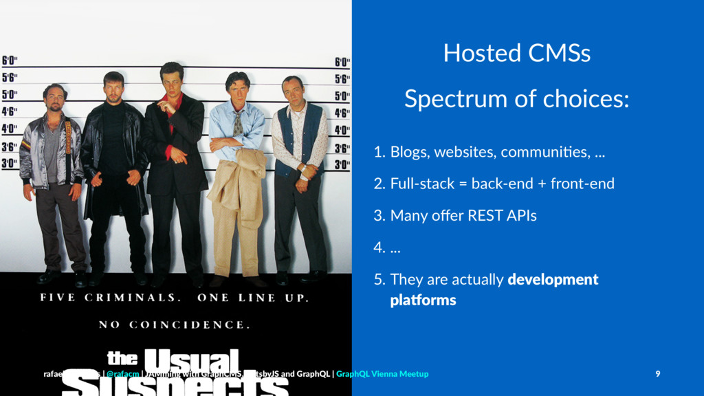 Hosted CMSs Spectrum of choices: 1. Blogs, webs...