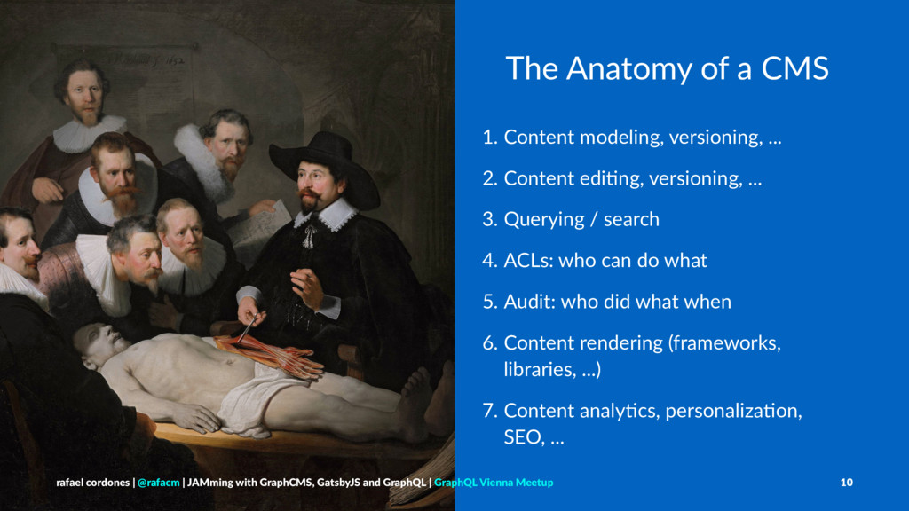 The Anatomy of a CMS 1. Content modeling, versi...