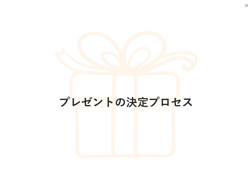 プレゼントの決定プロセス 20