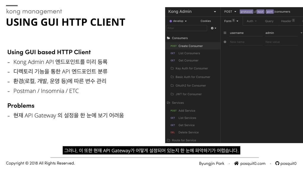 Using GUI based HTTP Client - Kong Admin API ূ٘...