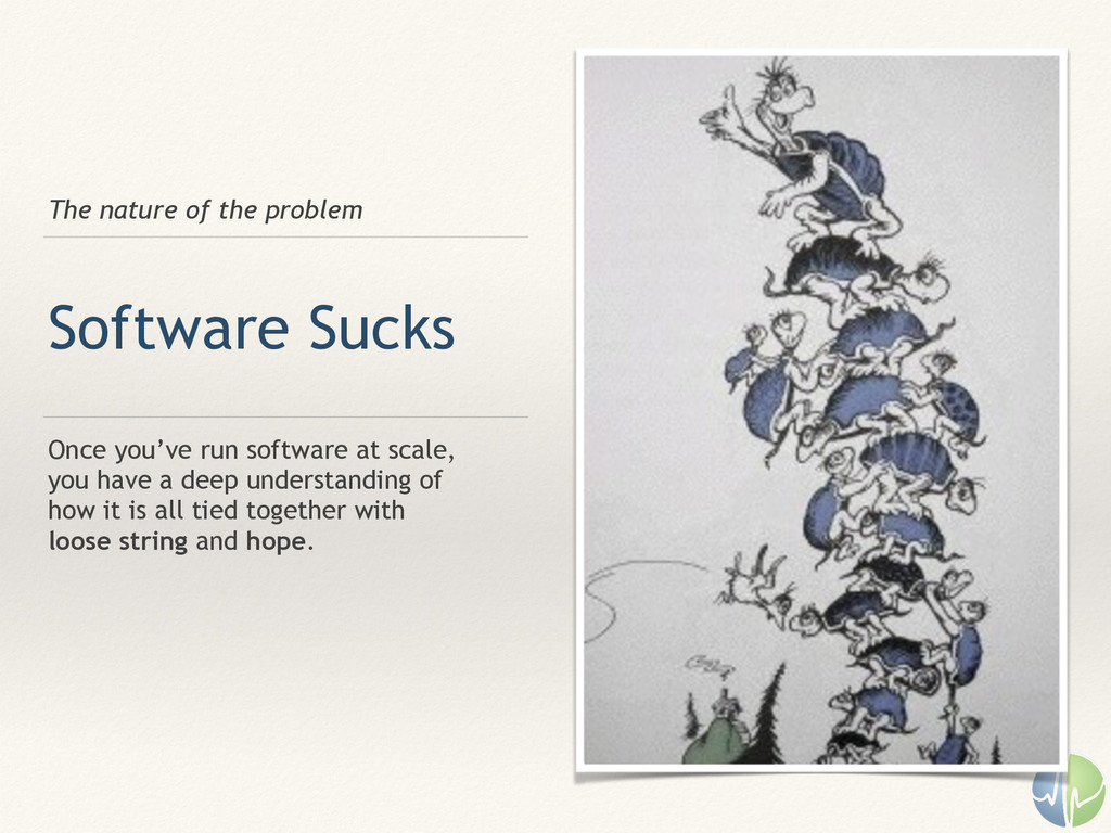 The nature of the problem Software Sucks Once y...
