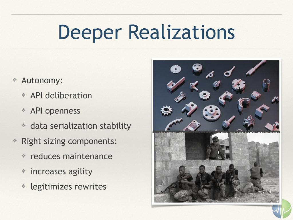 Deeper Realizations ❖ Autonomy: ❖ API deliberat...