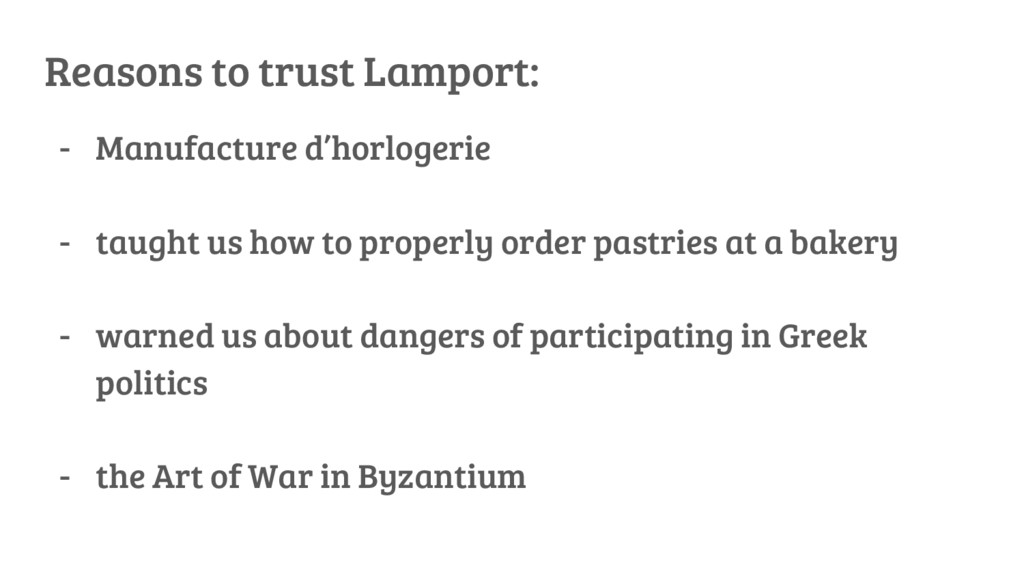 Reasons to trust Lamport: - Manufacture d'horlo...