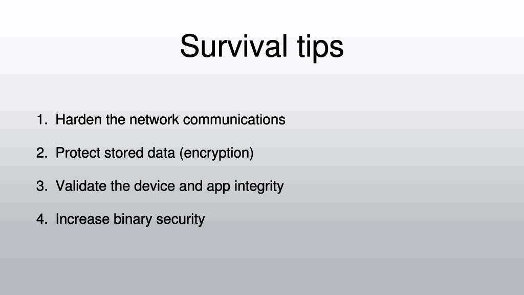 Survival tips 1. Harden the network communicati...