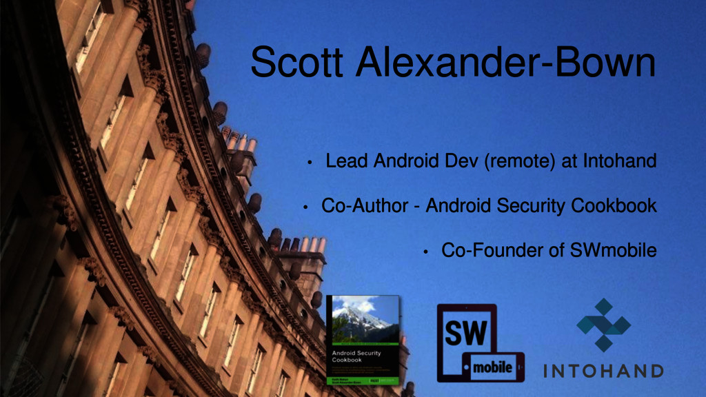 • Lead Android Dev (remote) at Intohand • Co-Au...