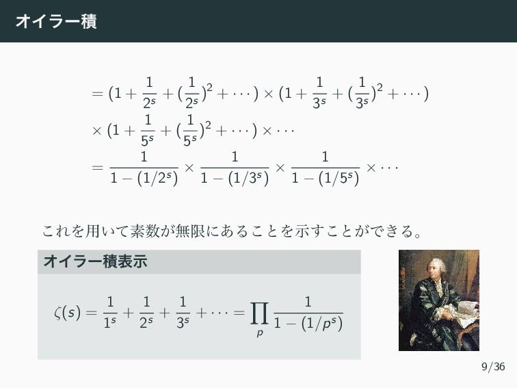 ΦΠϥʔੵ = (1 + 1 2s + ( 1 2s )2 + · · · ) × (1 + ...