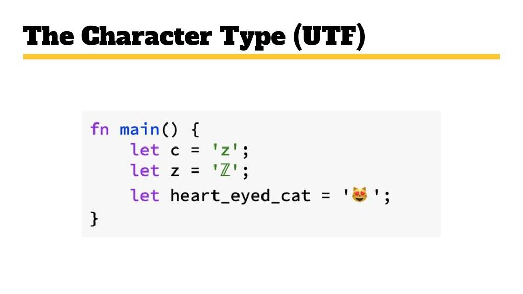 The Character Type (UTF)
